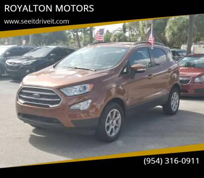 2019 Ford EcoSport for sale at ROYALTON MOTORS in Plantation FL