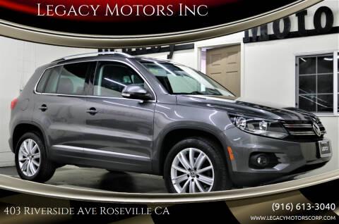 2013 Volkswagen Tiguan for sale at Legacy Motors Inc in Roseville CA