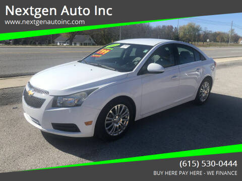 2013 Chevrolet Cruze for sale at Nextgen Auto Inc in Smithville TN