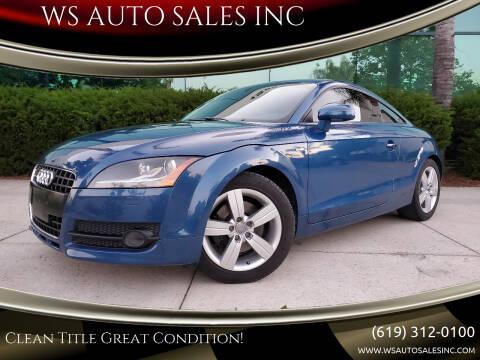 2009 Audi TT for sale at WS AUTO SALES INC in El Cajon CA