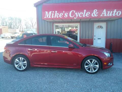 2012 Chevrolet Cruze for sale at MIKE'S CYCLE & AUTO in Connersville IN