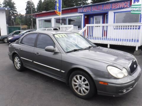 2003 Hyundai Sonata for sale at 777 Auto Sales and Service in Tacoma WA