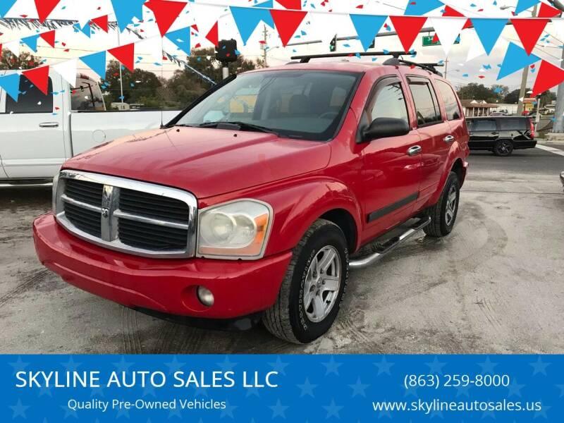 2006 Dodge Durango for sale at SKYLINE AUTO SALES LLC in Winter Haven FL