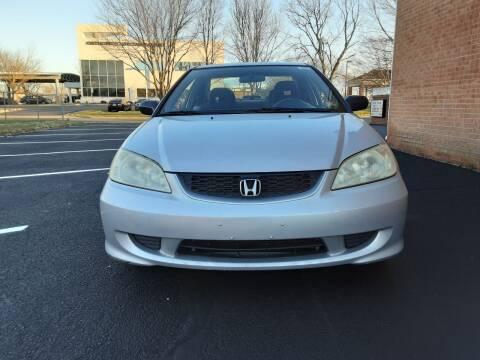 2005 Honda Civic for sale at Fredericksburg Auto Finance Inc. in Fredericksburg VA