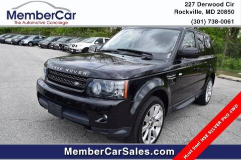 2013 Land Rover Range Rover Sport for sale at MemberCar in Rockville MD