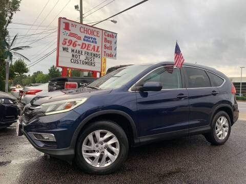 2016 Honda CR-V for sale at 1st Choice Auto Sales in Newport News VA