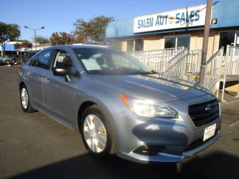 2016 Subaru Legacy for sale at Salem Auto Sales in Sacramento CA