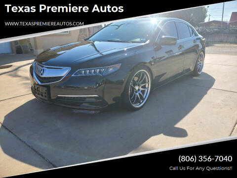 2015 Acura TLX for sale at Texas Premiere Autos in Amarillo TX