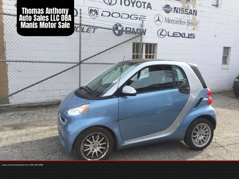 2012 Smart fortwo for sale at Thomas Anthony Auto Sales LLC DBA Manis Motor Sale in Bridgeport CT