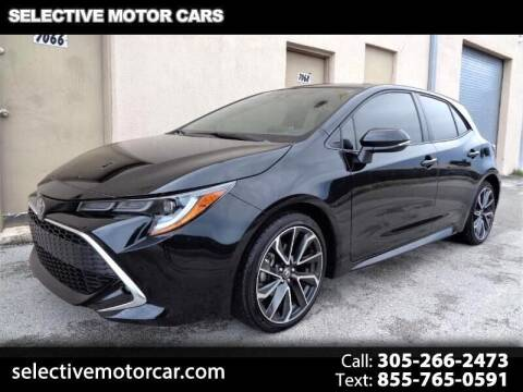 2021 Toyota Corolla Hatchback for sale at Selective Motor Cars in Miami FL