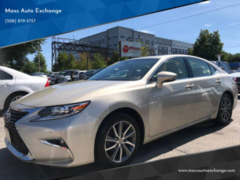 2016 Lexus ES 300h for sale at Mass Auto Exchange in Framingham MA