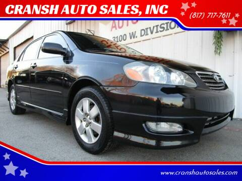 2006 Toyota Corolla for sale at CRANSH AUTO SALES, INC in Arlington TX