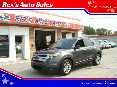 2015 Ford Explorer for sale at Rex's Auto Sales in Junction City KS