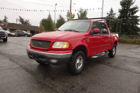 2001 Ford F-150 for sale at Leavitt Auto Sales and Used Car City in Everett WA