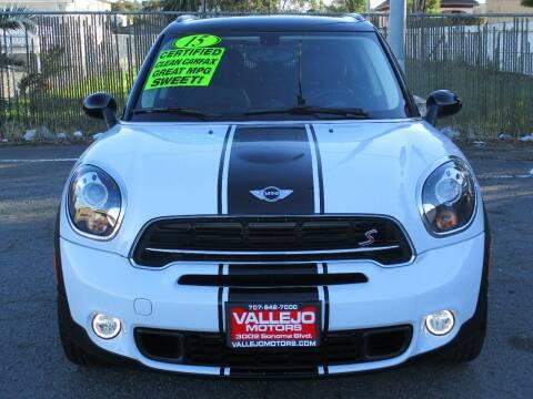 2015 MINI Countryman for sale at Vallejo Motors in Vallejo CA