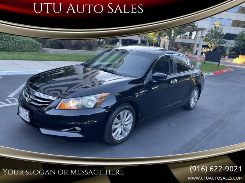 2012 Honda Accord for sale at UTU Auto Sales in Sacramento CA