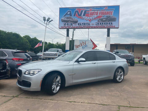 2014 BMW 7 Series for sale at ANF AUTO FINANCE in Houston TX