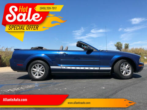 2008 Ford Mustang for sale at AllanteAuto.com in Santa Ana CA