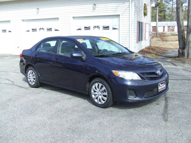 2012 Toyota Corolla for sale at DUVAL AUTO SALES in Turner ME