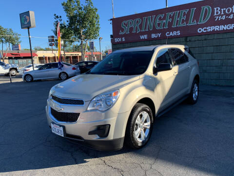 2012 Chevrolet Equinox for sale at SPRINGFIELD BROTHERS LLC in Fullerton CA