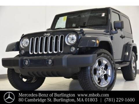 2017 Jeep Wrangler for sale at Mercedes Benz of Burlington in Burlington MA