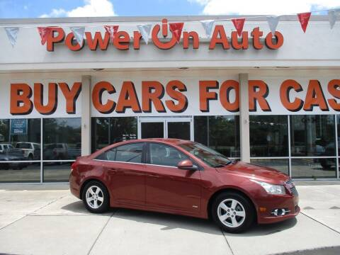 2012 Chevrolet Cruze for sale at Power On Auto LLC in Monroe NC