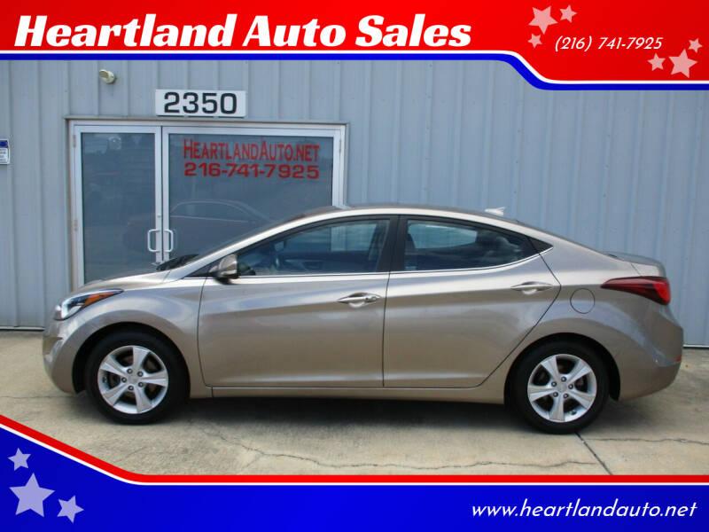 2016 Hyundai Elantra for sale at Heartland Auto Sales in Medina OH