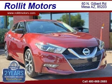2016 Nissan Maxima for sale at Rollit Motors in Mesa AZ