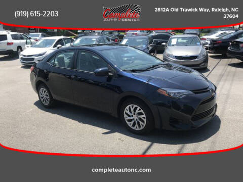 2017 Toyota Corolla for sale at Complete Auto Center , Inc in Raleigh NC