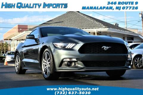 2016 Ford Mustang for sale at High Quality Imports in Manalapan NJ