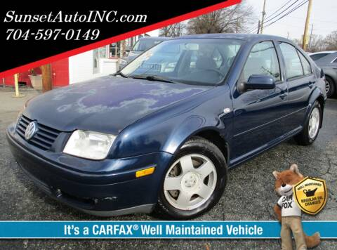 2002 Volkswagen Jetta for sale at Sunset Auto in Charlotte NC