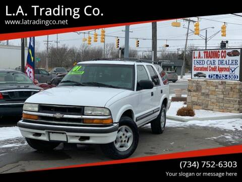 2001 Chevrolet Blazer for sale at L.A. Trading Co. Woodhaven in Woodhaven MI
