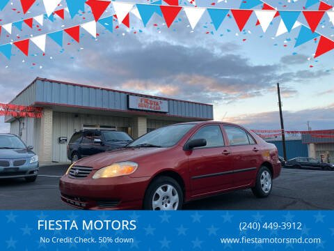 2003 Toyota Corolla for sale at FIESTA MOTORS in Hagerstown MD