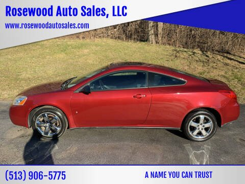 2008 Pontiac G6 for sale at Rosewood Auto Sales, LLC in Hamilton OH