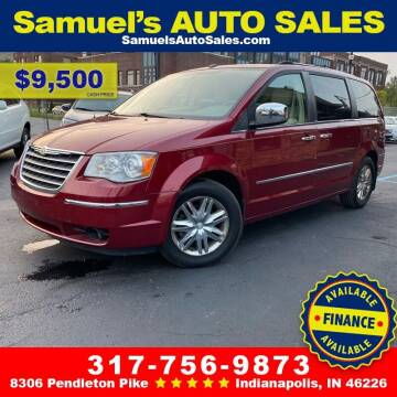 2010 Chrysler Town and Country for sale at Samuel's Auto Sales in Indianapolis IN