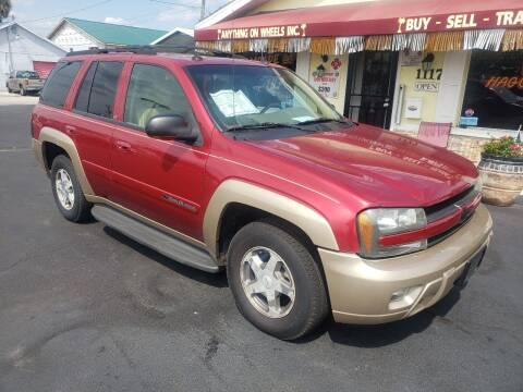 2004 Chevrolet TrailBlazer for sale at ANYTHING ON WHEELS INC in Deland FL