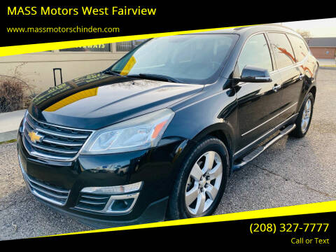 2013 Chevrolet Traverse for sale at MASS Motors West Fairview in Boise ID