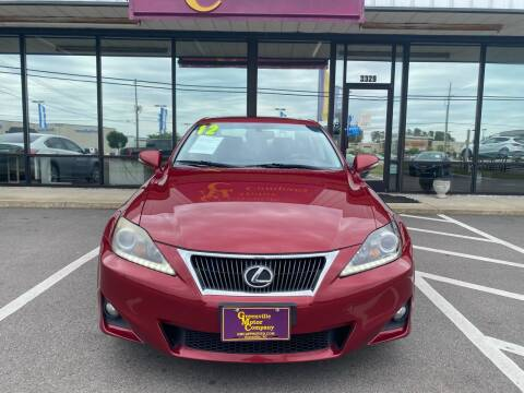 2012 Lexus IS 250 for sale at Greenville Motor Company in Greenville NC
