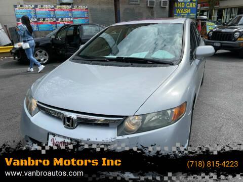 2007 Honda Civic for sale at Vanbro Motors Inc in Staten Island NY