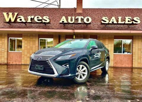 2017 Lexus RX 350 for sale at Wares Auto Sales INC in Traverse City MI