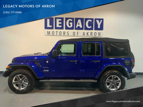 2018 Jeep Wrangler Unlimited for sale at LEGACY MOTORS OF AKRON in Akron OH