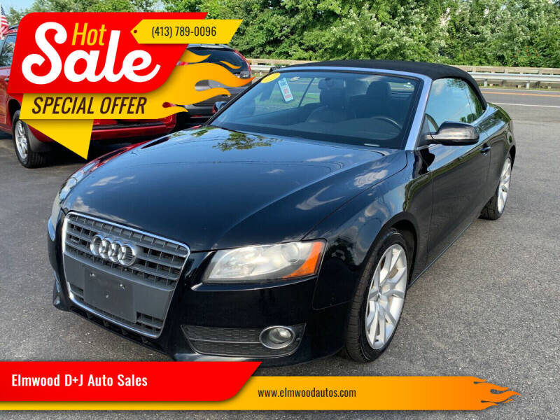 2011 Audi A5 for sale at Elmwood D+J Auto Sales in Agawam MA