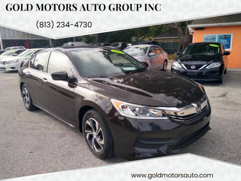 2017 Honda Accord for sale at Gold Motors Auto Group Inc in Tampa FL