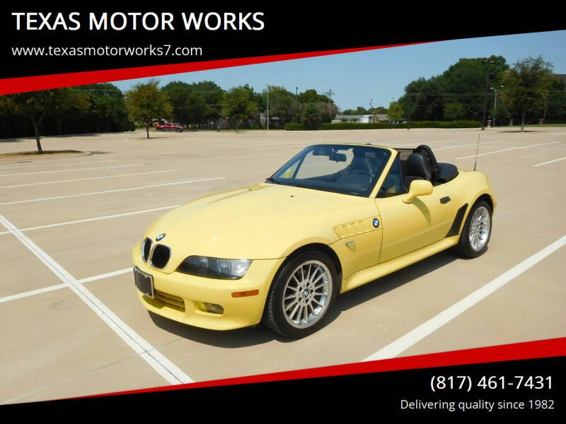 2002 BMW Z3 for sale at TEXAS MOTOR WORKS in Arlington TX