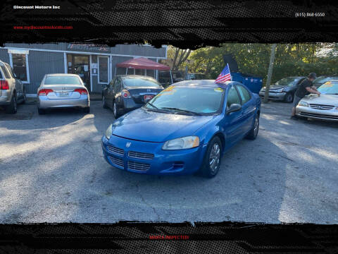 2001 Dodge Stratus for sale at Discount Motors Inc in Madison TN