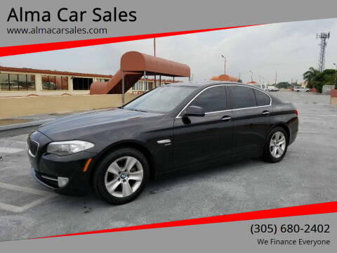 2012 BMW 5 Series for sale at Alma Car Sales in Miami FL