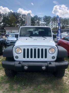 2016 Jeep Wrangler for sale at Gralin Hampton Auto Sales in Summerville SC