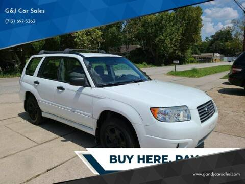 2006 Subaru Forester for sale at G&J Car Sales in Houston TX