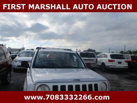 2008 Jeep Patriot for sale at First Marshall Auto Auction in Harvey IL