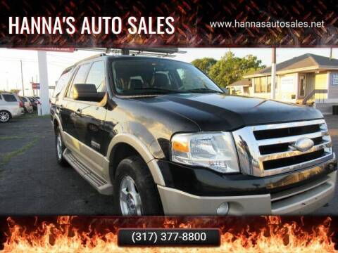 2008 Ford Expedition for sale at Hanna's Auto Sales in Indianapolis IN